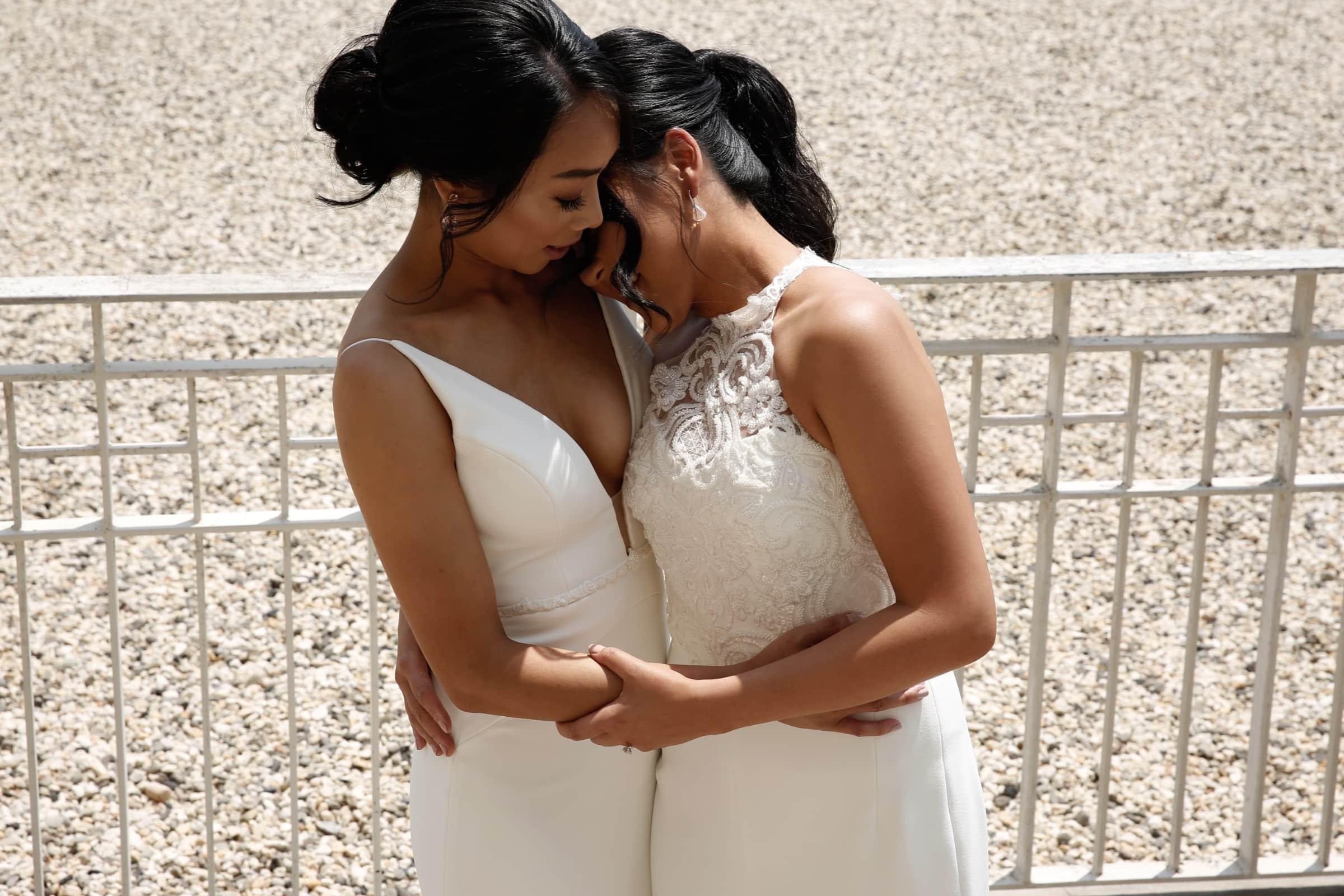 Aleem Yusuf Couture Melbourne Victoria Australia lesbian same-sex couple wedding dress attire Dancing With Her