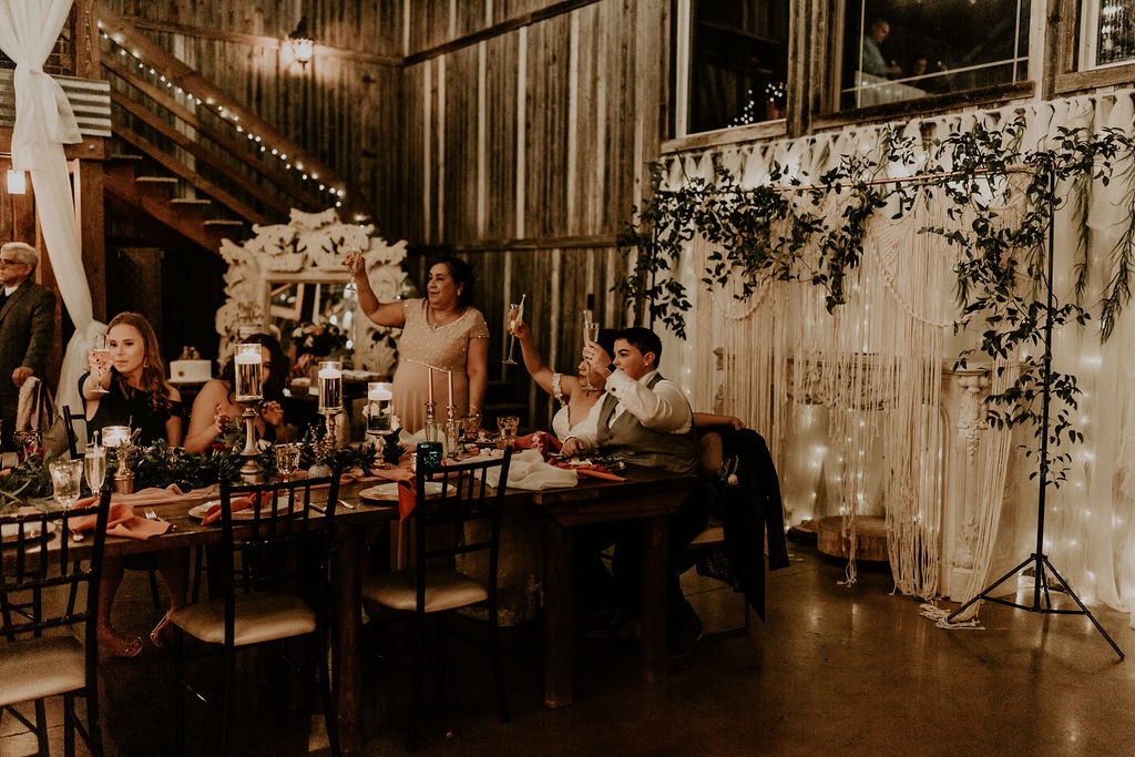 Fall Inspired Lesbian Chapel Wedding - Dancing With Her - Dallas Texas