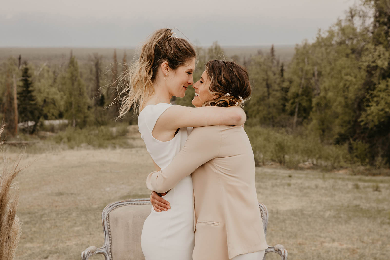 Alaska Lesbian Wedding - COVID Intimate Wedding - Bare Bones Creative