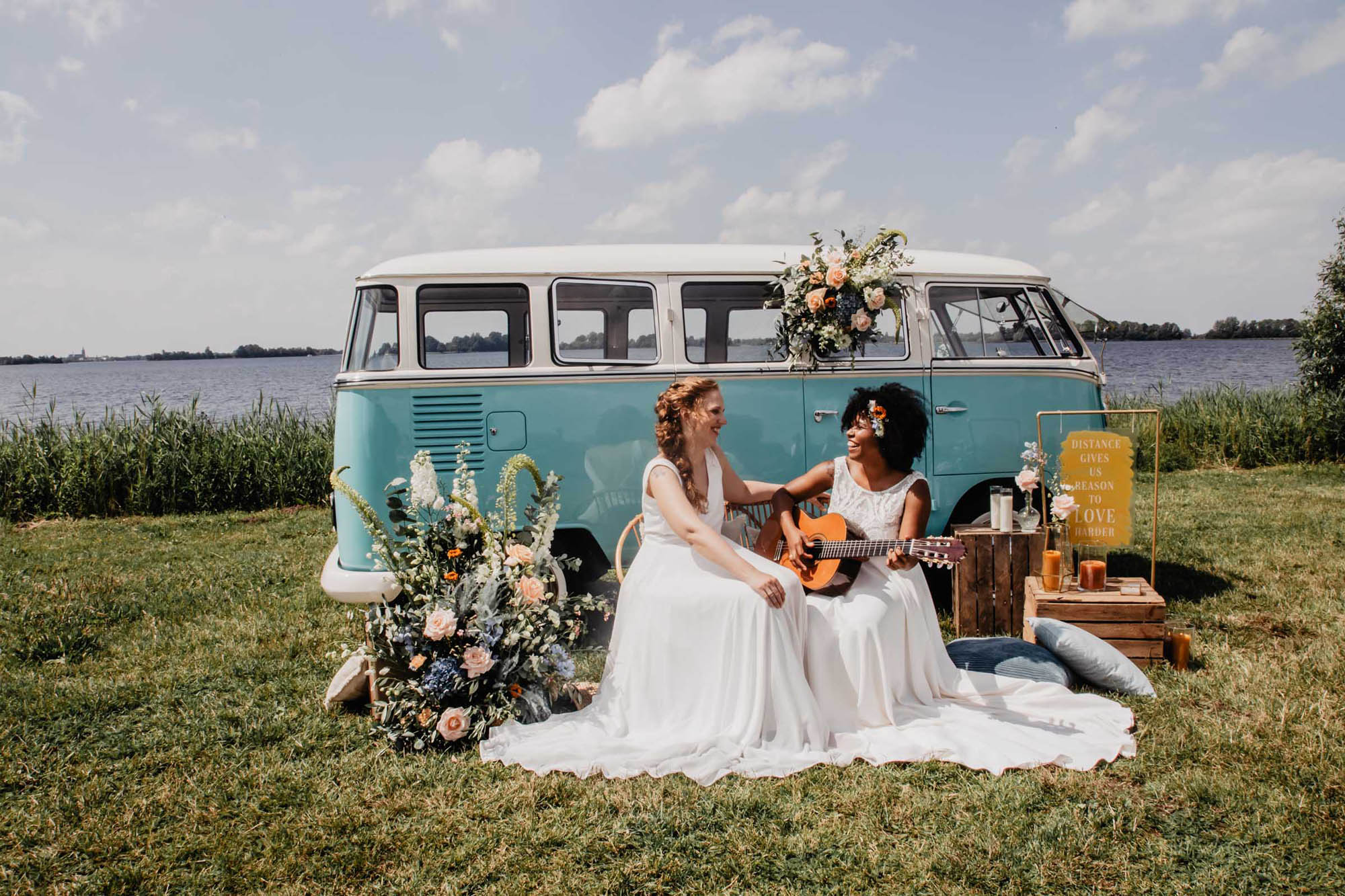 Covid Elopement - Boho-Inspired Wedding - Lesbian Wedding