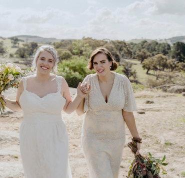 Eco-Concious Sustainable Wedding Inspiration - Lesbian Wedding