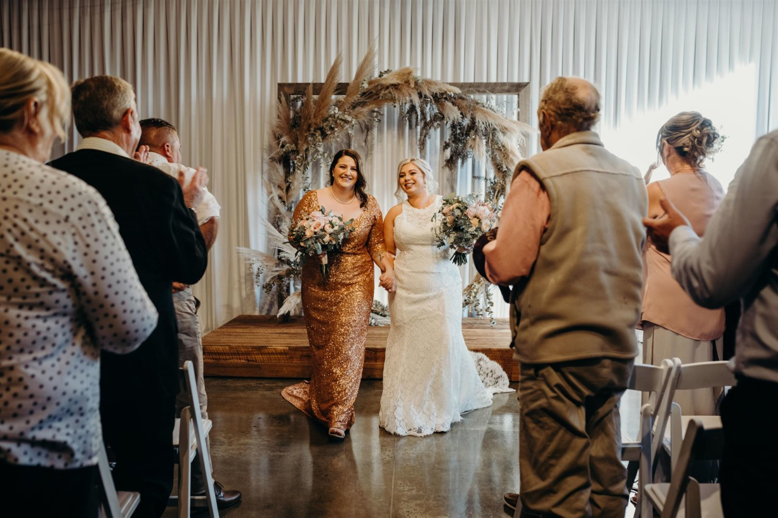How to Walk Down the Wedding Aisle as a Same-Sex Couple - Lesbian Wedding Inspiration