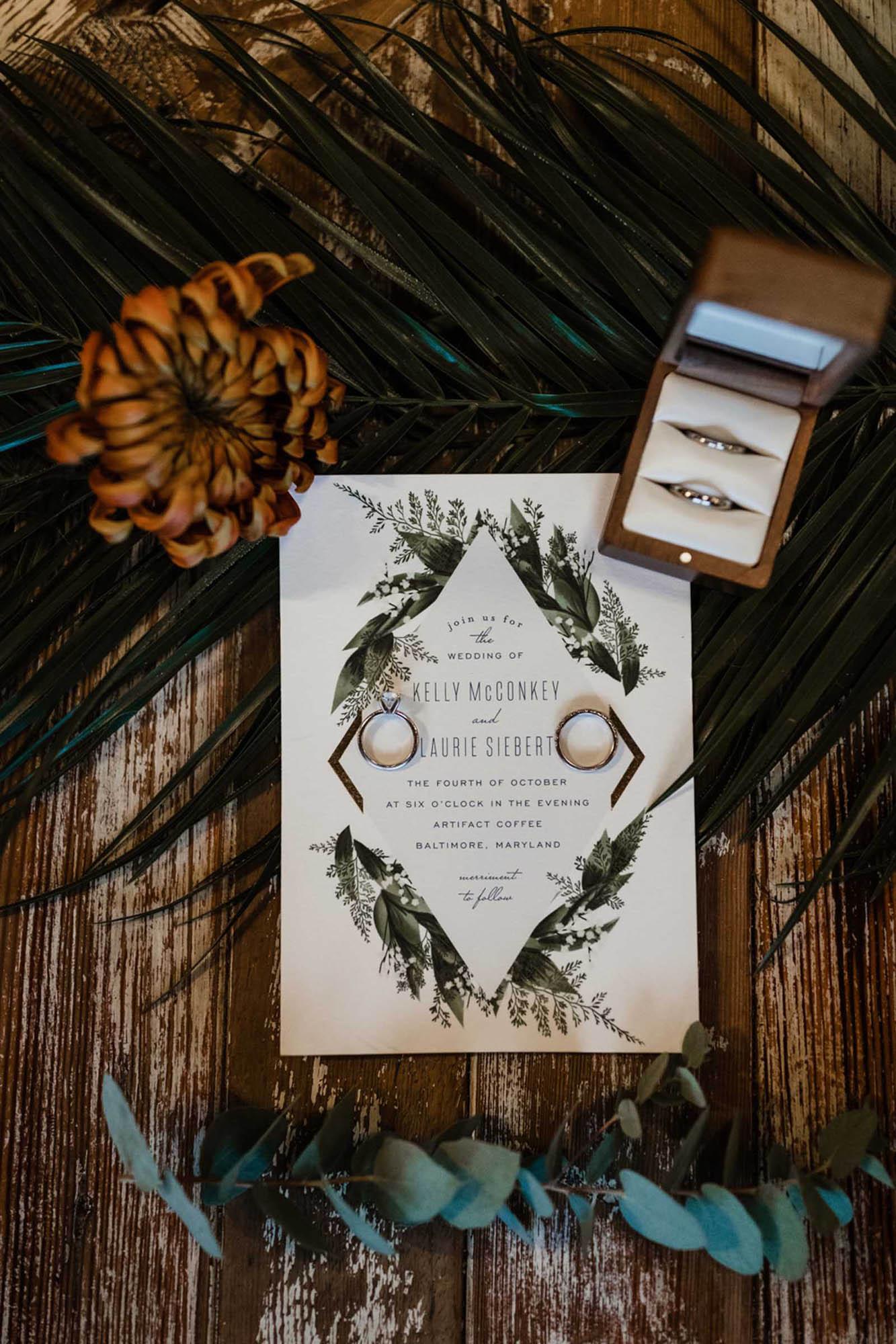 Queer Intimate Wedding in Baltimore - DIY Wedding