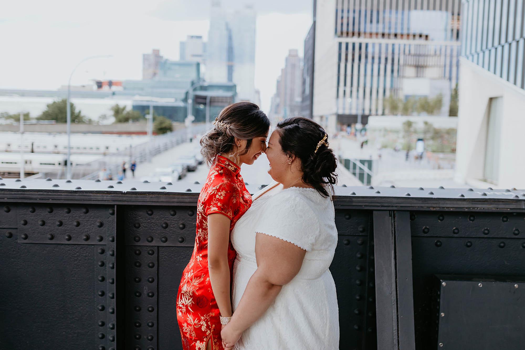 New York City Skyline Elopement - Micro Wedding - LGBTQ Wedding
