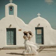 Santorini Same-Sex Elopement - Lesbian Wedding - Dancing With Her
