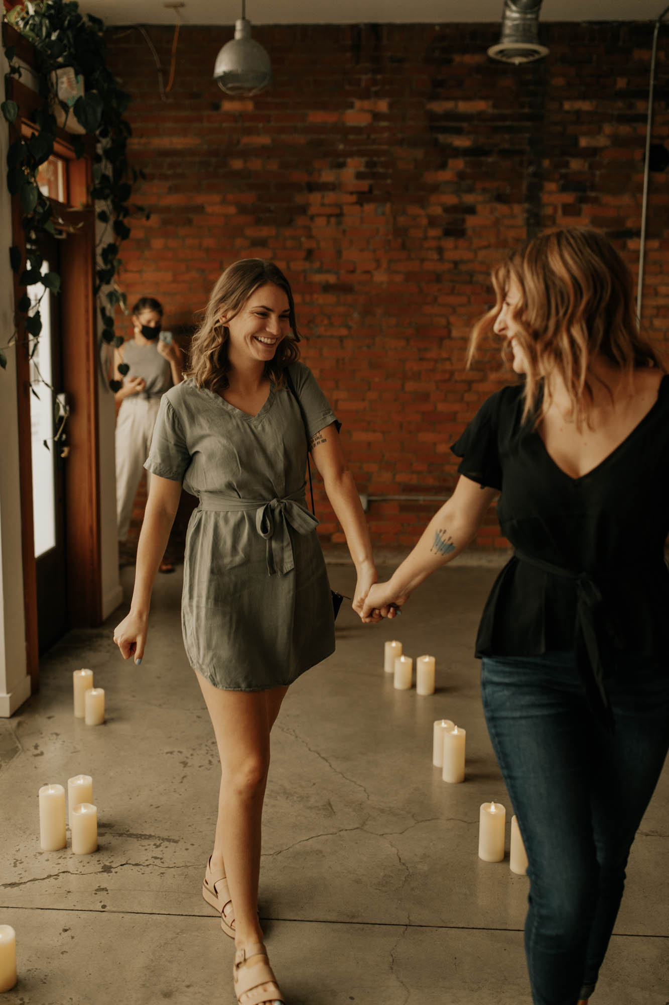 Lesbian Surprise Proposal - Double Engagement - Dancing With Her