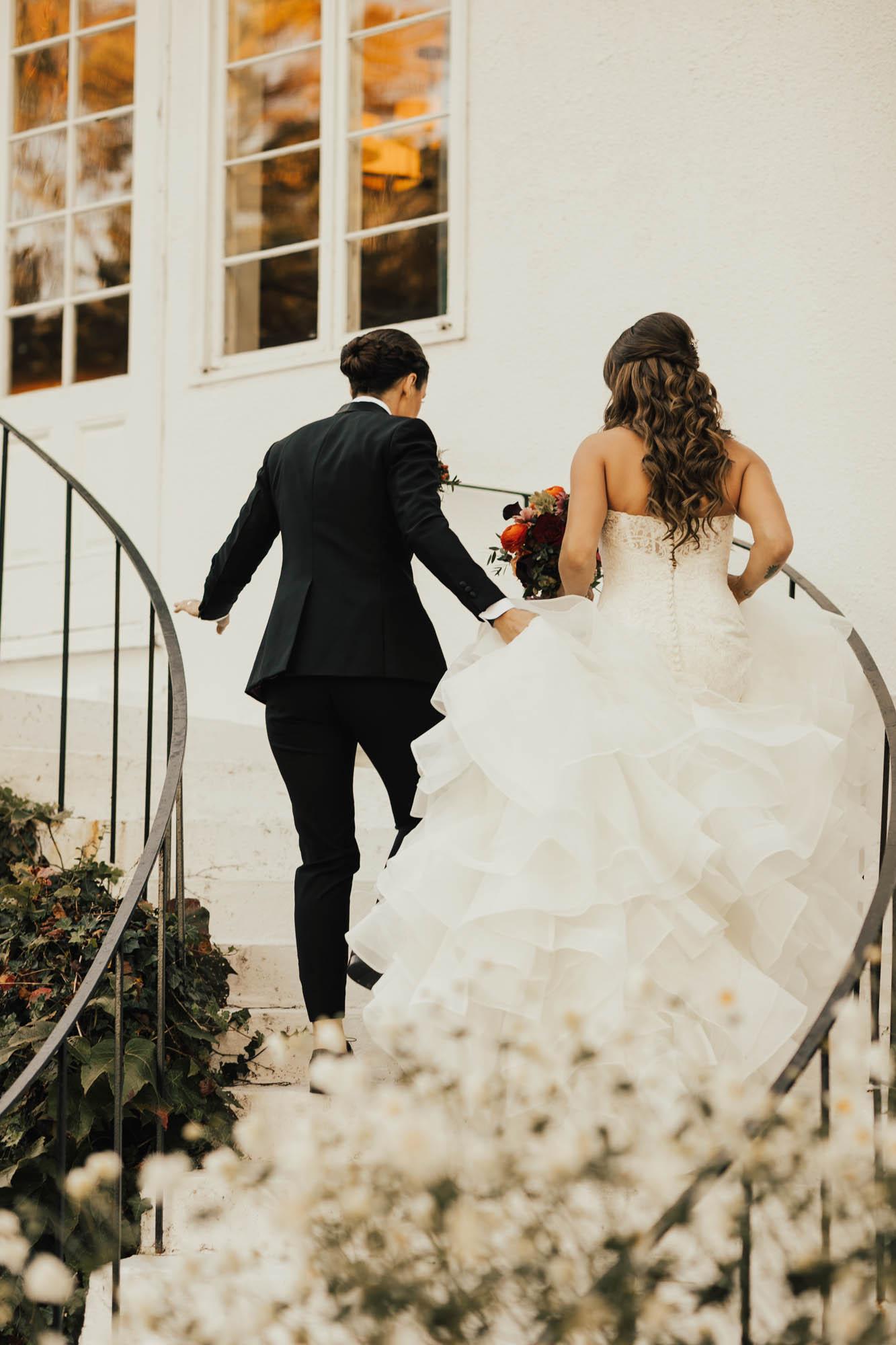 Woodland Indoor Wedding - New York - Lesbian Wedding - Dancing With Her
