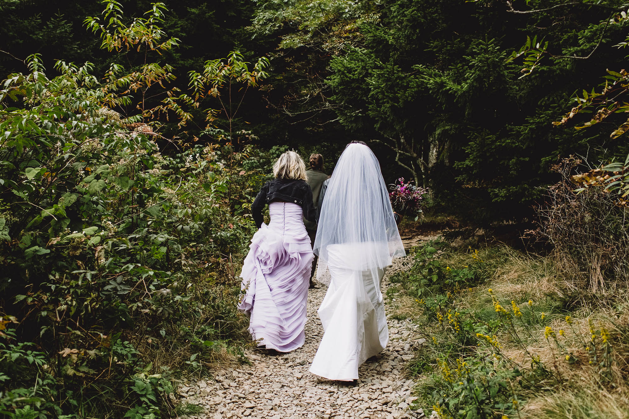 Covid Wedding - Forest Hiking Wedding - Queer