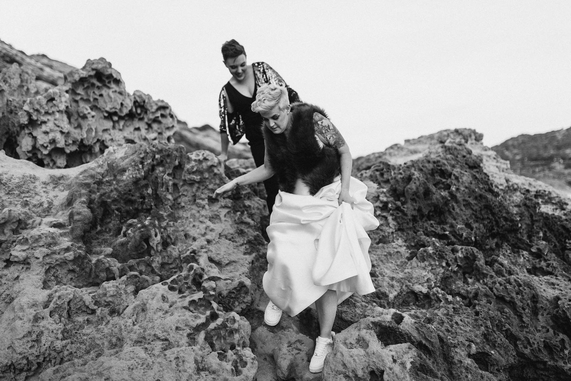 Gold and Grit - Queer Melbourne Beach Wedding - LGBTQ (7)