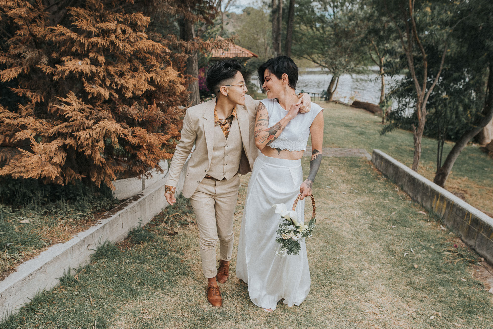 Intimate and Colorful Wedding in Mexico - Same-Sex Wedding - Dancing With Her (1)