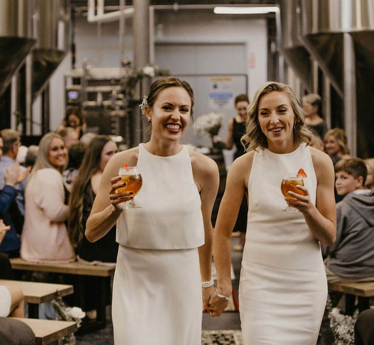 Lesbian Brewery Wedding - Dancing With Her - Ontario Canada Wedding Photographer