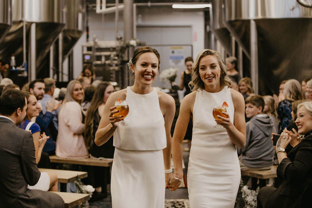 Lesbian Brewery Wedding - Dancing With Her - Ontario Canada Wedding Photographer