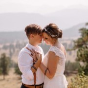 Rocky Mountains Lesbian Wedding in a National Park - Liz Osban Photography - Dancing With Her