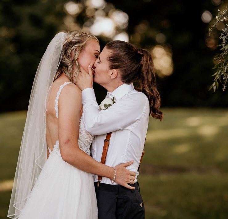 Rustic Lesbian Farm Wedding in Vancouver - Queer Wedding
