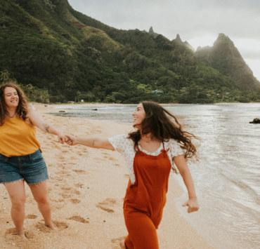 Alexandra Masihy Kauai Hawaii lesbian gay couple beach island engagement photographer Dancing With Her