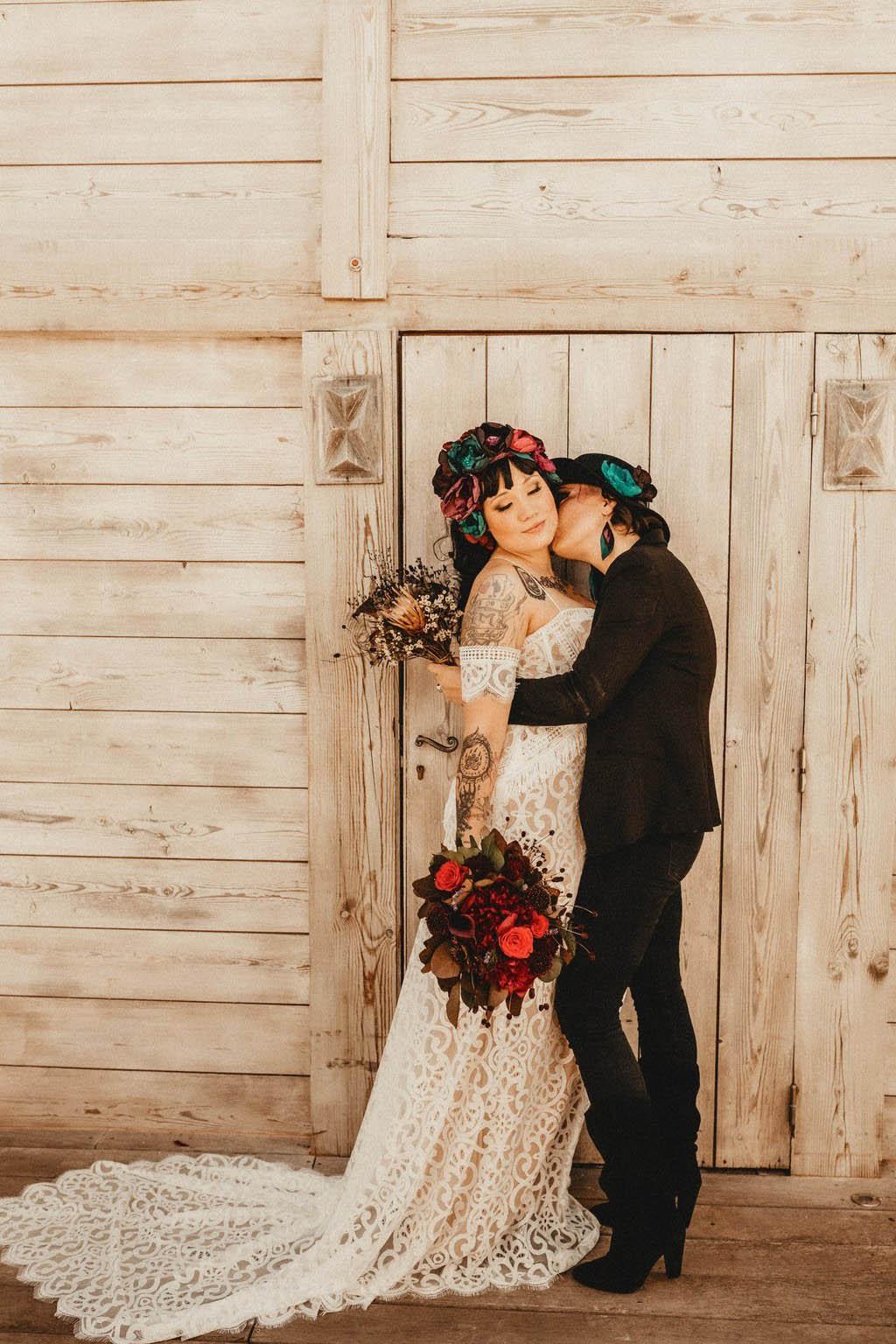 Alternative Same-Sex Wedding Inspiration - France - Dancing With Her