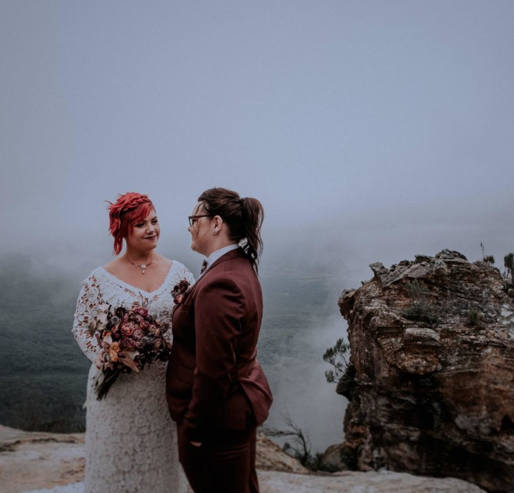 Blue Mountains lesbian gay elopement wedding photography Kings & Thieves Dancing With Her magazine directory