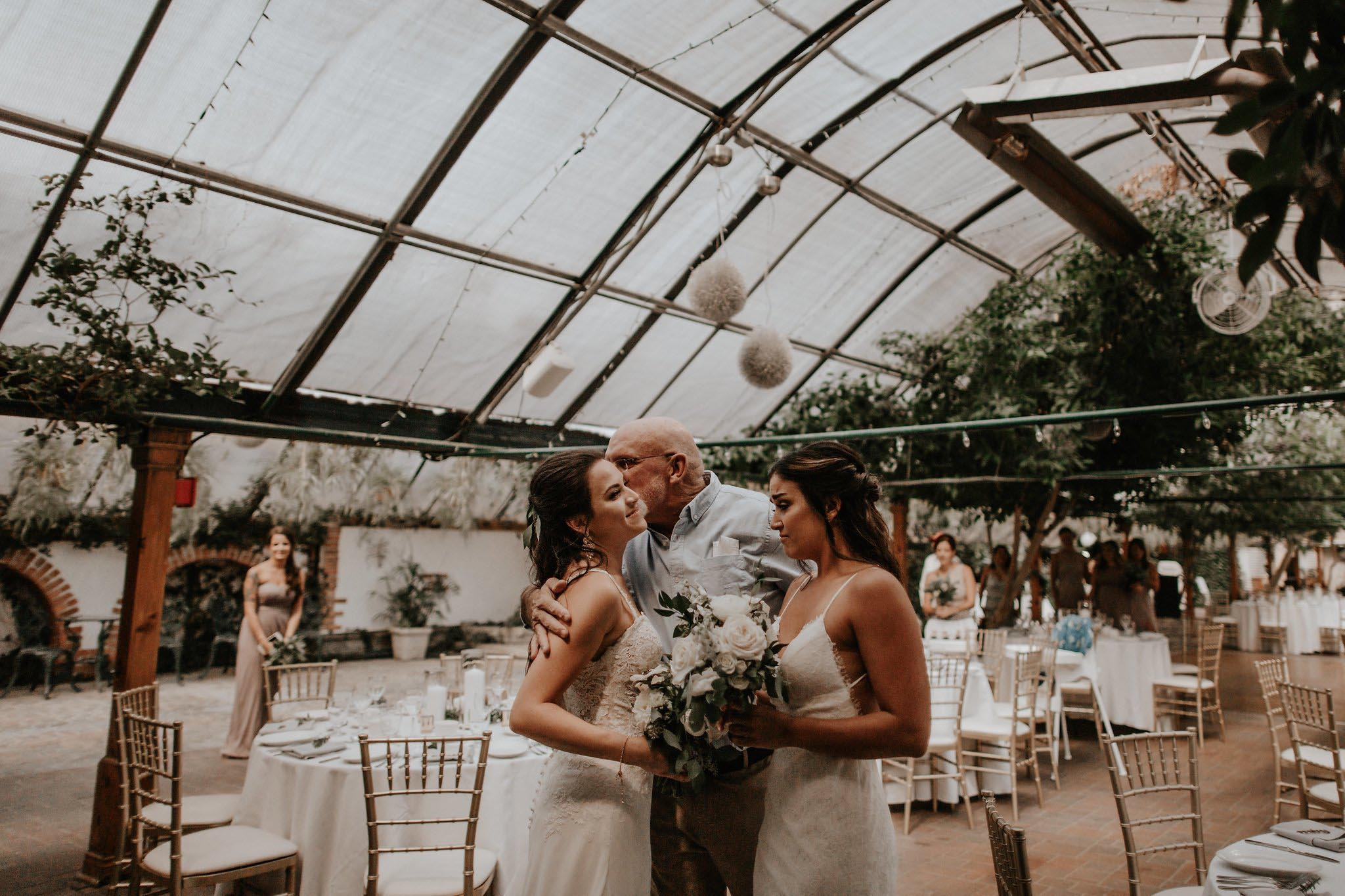 Bows & Lavender two brides mrs & mrs lesbian greenhouse wedding America Dancing With Her magazine