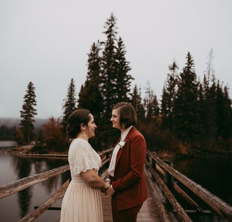Brina Debalinhard Photography Alberta Canada lesbian gay couple elopement wedding Dancing With Her