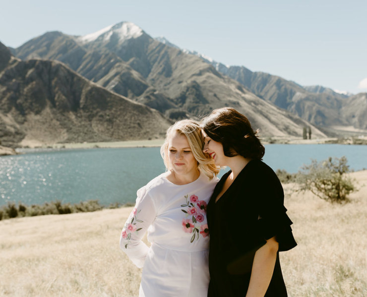 Dawn Thomson photography lesbian two bride small New Zealand Australian couple elopement Dancing With Her