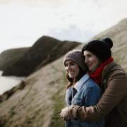 Dean Snushall lesbian lgbtqia couple beach engagement photos Australia Dancing With Her