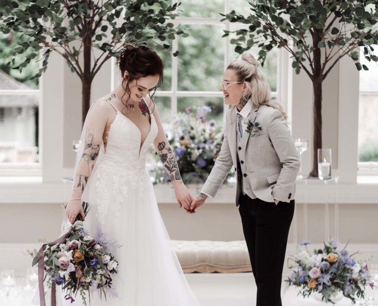 Emma Ryan Photography UK Yorkshire lesbian two brides gay wedding inspiration Dancing With Her