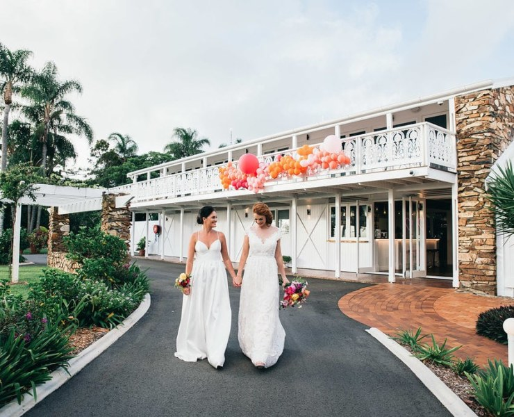 Figtree Wedding Photography Plantation House Cabarita Beach Gold Coast lesbian two bride gay wedding elopement Dancing With Her