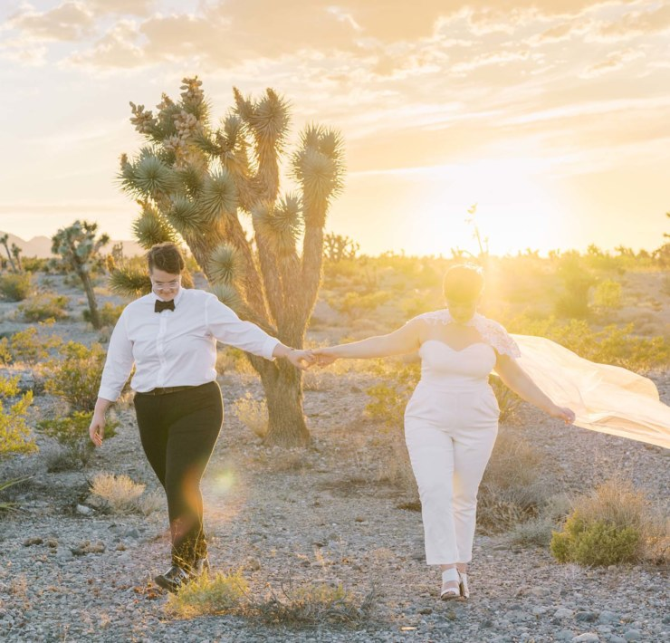 Gaby J Photography lesbian queer Joshua Tree California USA desert elopement Dancing With Her