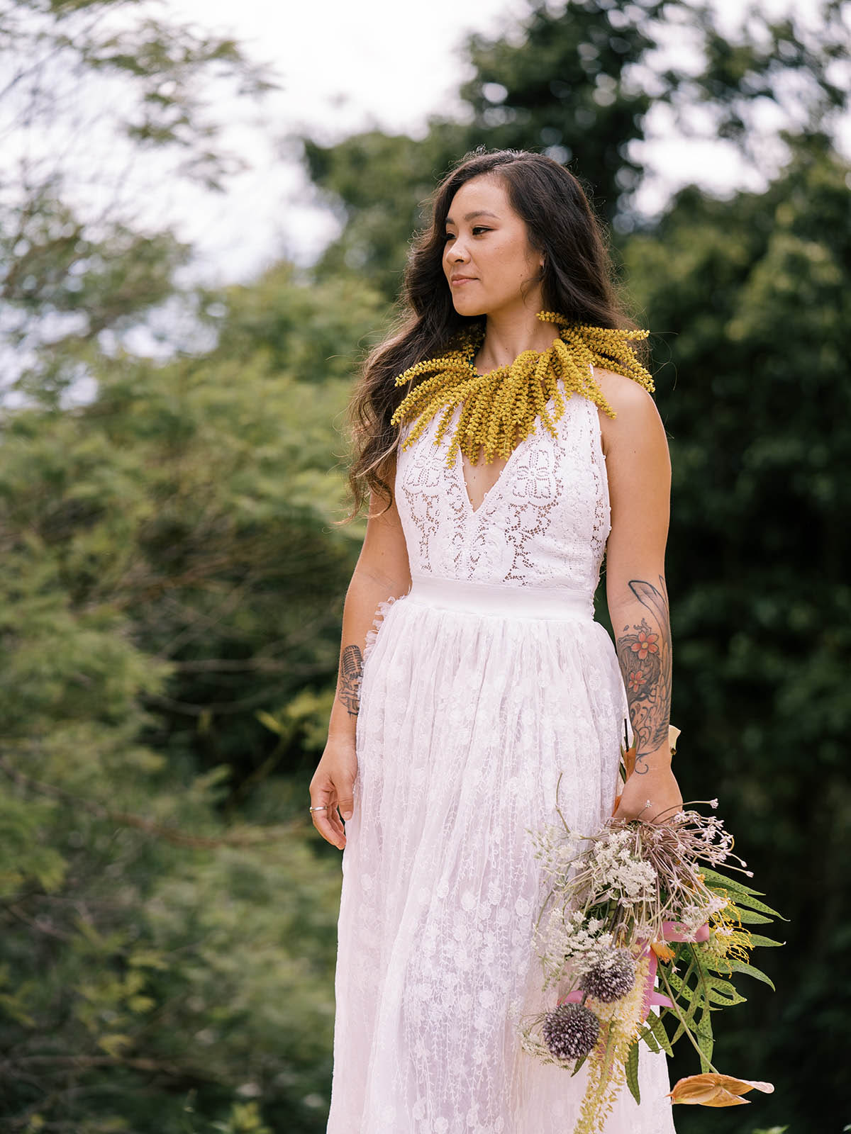 Indigenous Love in Hawaii - Same-Sex Wedding Inspiration - Dancing With Her - Megan Moura Photography