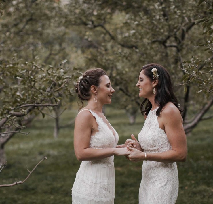 Jamie Allio photography Arizona USA lesbian two brides large outside wedding Dancing With Her