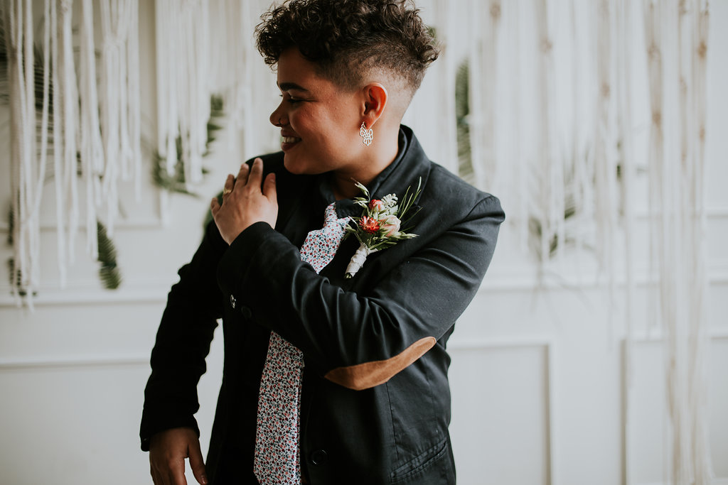 Jamie Carle photography Portland America lesbian two bride wedding elopement marriage Dancing With Her