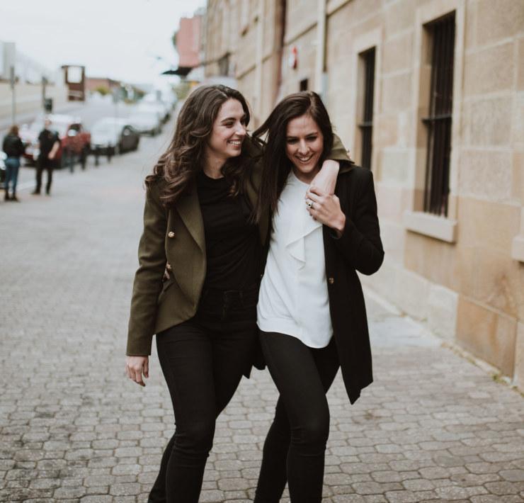 Jon Gazzignato Tasmania lesbian two brides gay couple engagement Dancing With Her wedding magazine online directory