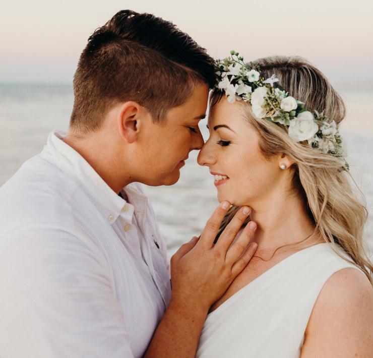 Julia Rau Photography lesbian gay queer elopement beach wedding Broome Western Australia Dancing With Her magazine
