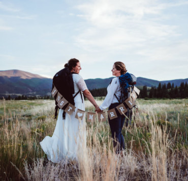 LGBTQ Lesbian Wedding Photographer Creede Chapel Colorado America EJ Dilley Photography camping outdoors Christian church Dancing With Her