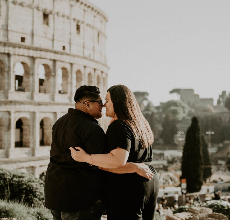 Lesbian Engagement Session in Rome - Dancing With Her