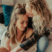 Lesbian at home Engagement Session - Dancing With Her
