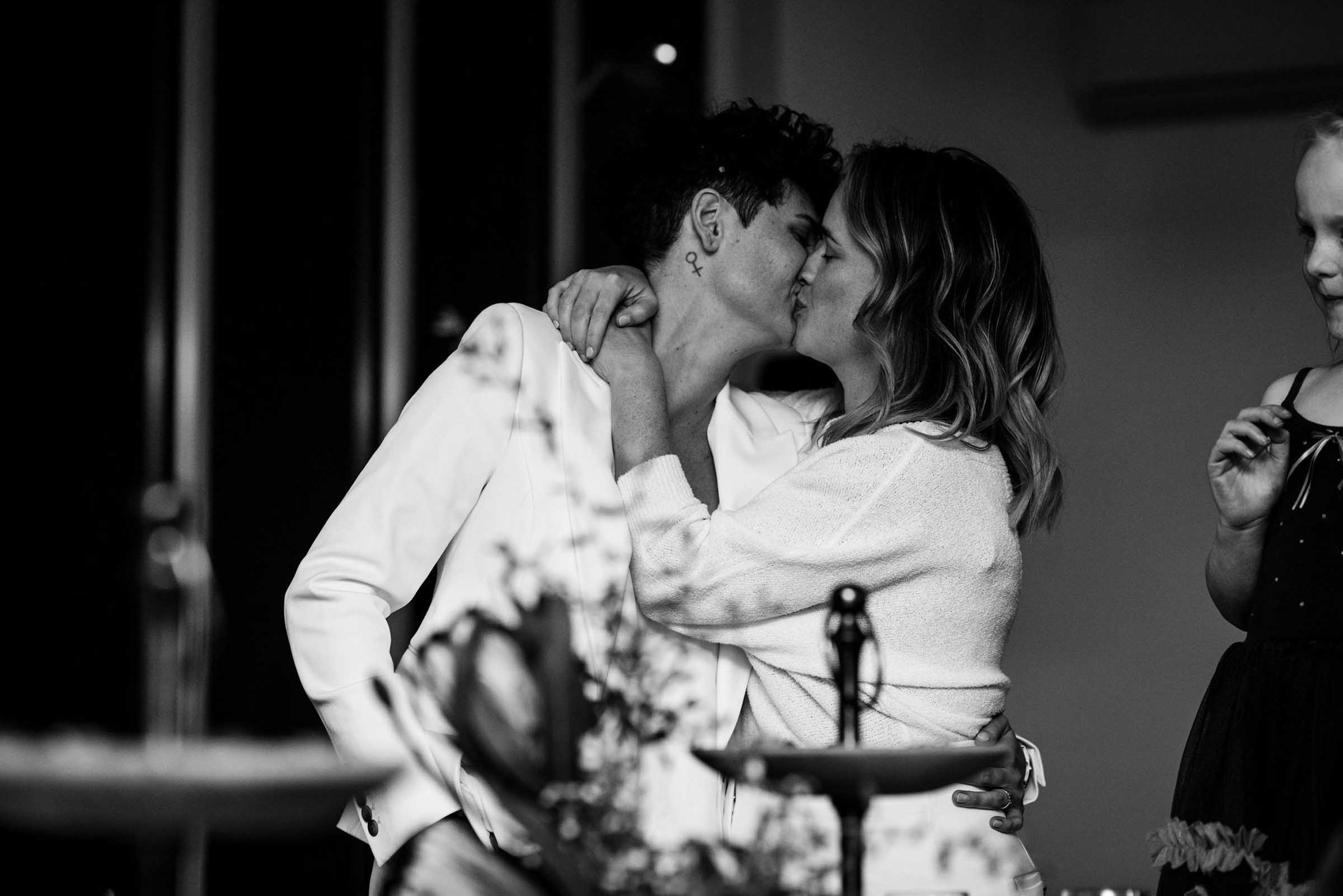 Lightsmith Images Tasmania Coal River two brides lesbian couple wedding elopement Dancing With Her