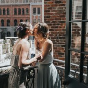 Love is Rad USA lesbian two brides elopement Dancing With Her online wedding magazine directory