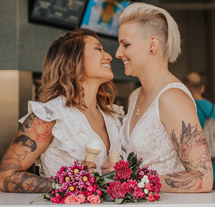 Marissa Solini photography San Francisco USA lesbian two bride queer couple wedding engagement Dancing With Her print magazine