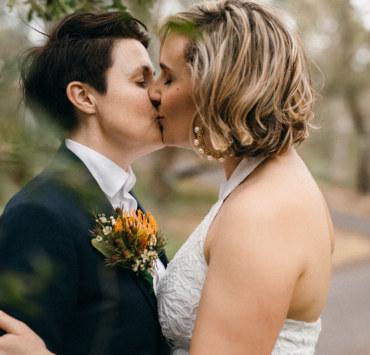 Mavis Jean Photography Melbourne Victoria lesbian two bride gay farm rustic wedding Dancing With Her magazine