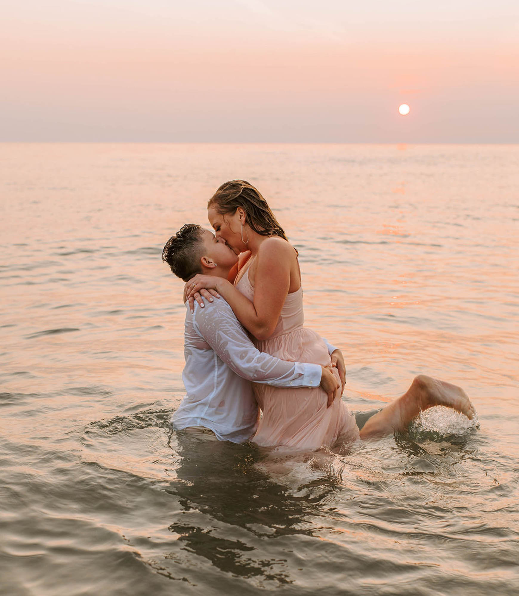 Michigan Same-Sex Enagement Photography - Dancing With Her - Engagement Photoshoot