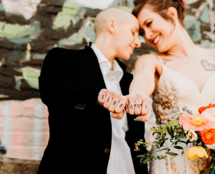 Morgan Cadell Photography Raleigh, North Carolina lesbian queer gay couple wedding elopement love photographer Dancing With Her