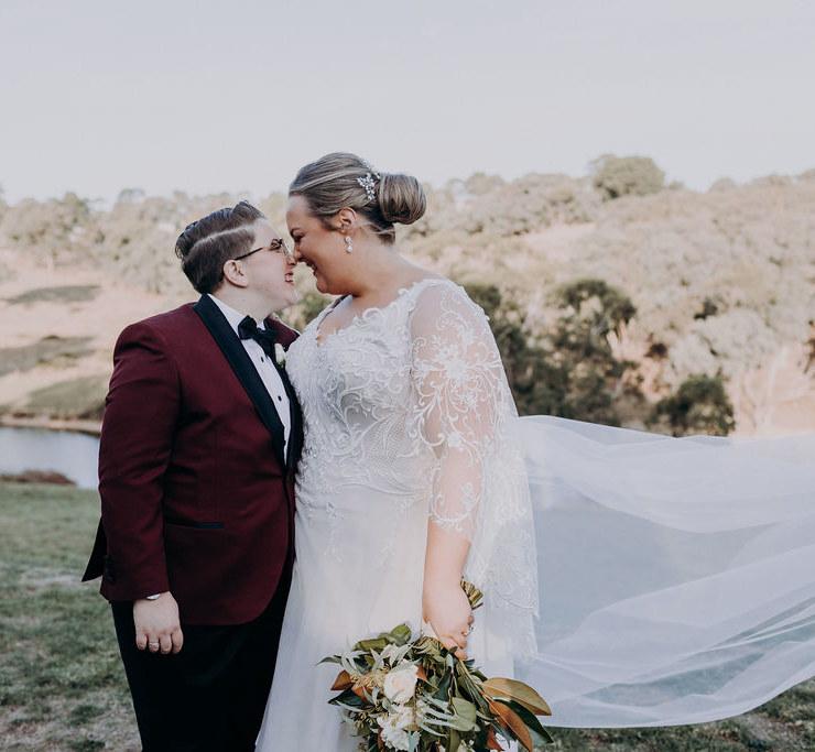 Niki Schuch Photographer Yarra Valley lesbian same-sex couple farm wedding Dancing With Her