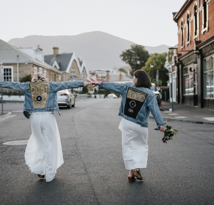 Nina Hamilton Tasmanian Wedding Photographer Battery Point Hall lesbian two brides Dancing With Her