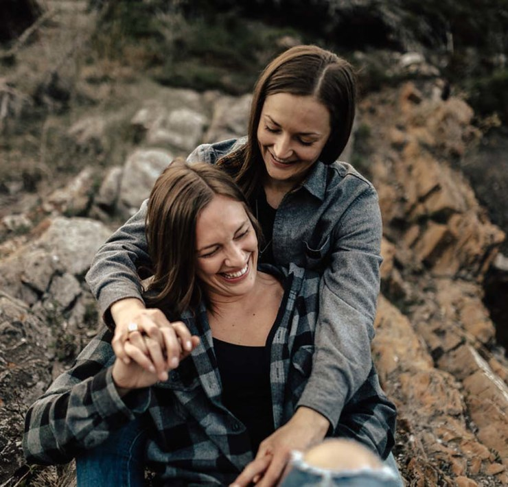 Rebecca Frank Photography Calgary Canada lesbian gay surprise proposal engagement Dancing With Her