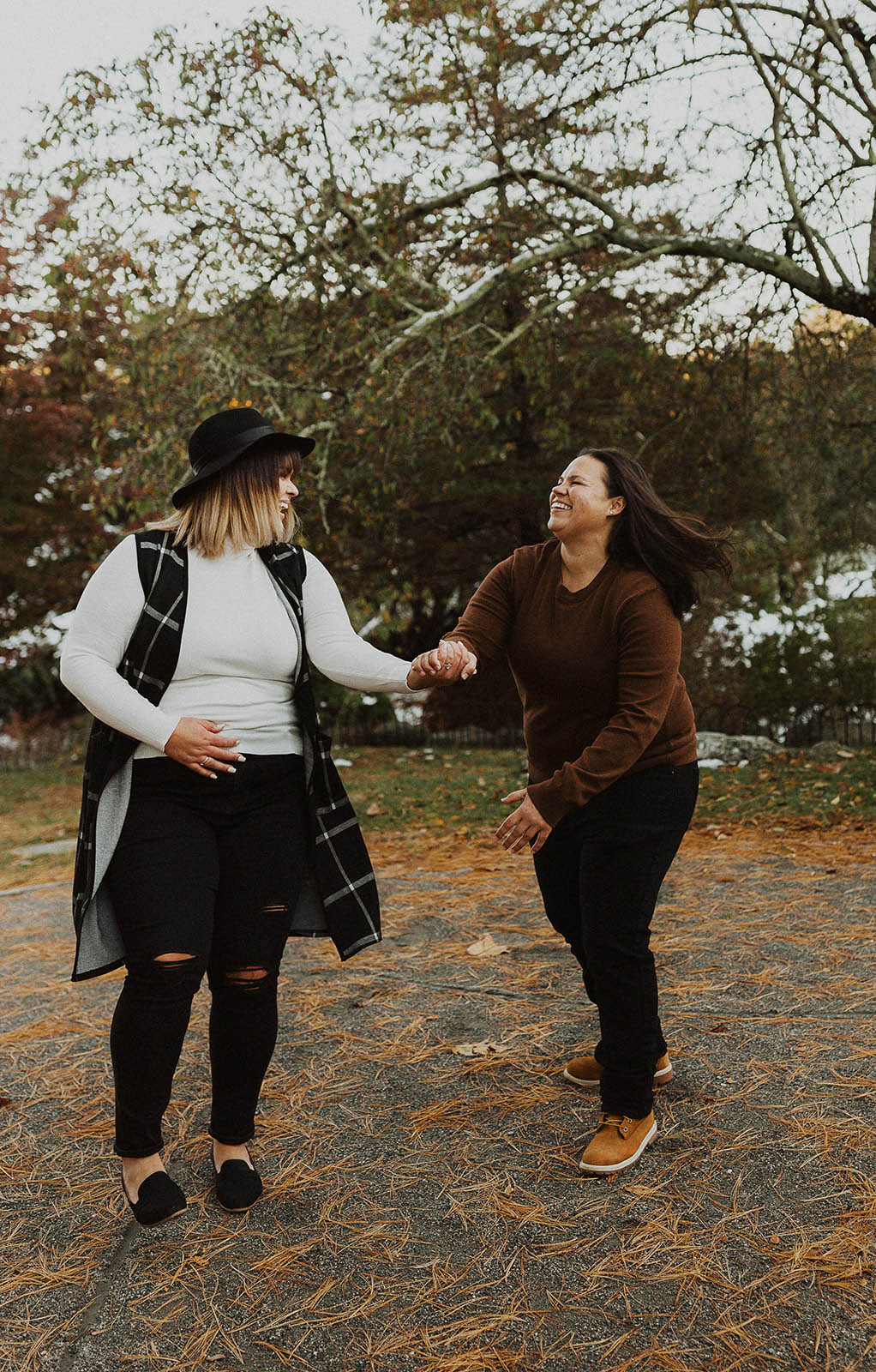 Rhode Island Lesbian Engagement Photography - Dancing With Her