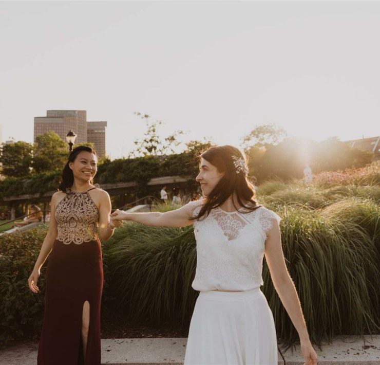 Riany Haffey Cambridge City Hall, Massachusetts America lesbian gay interracial Asian church wedding Dancing With Her