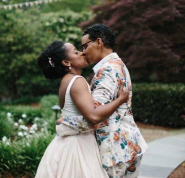River West photography lesbian queer same-sex couple unique wedding marriage USA Dancing With Her