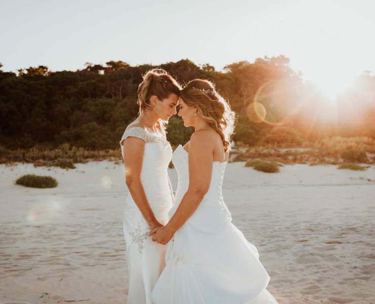 Sara Hannagan Photography Bunkers Beach House two brides Wedding Perth Dancing With Her