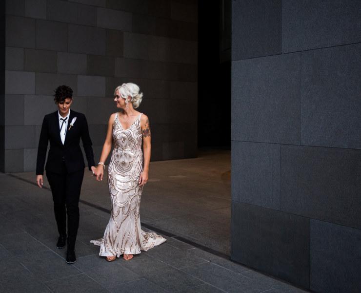 Sara Hannagan Photography Perth Western Australia lesbian two bride gay couple wedding Dancing With Her wedding directory magazine